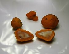 4 Tangerine Agate .7 oz From Morocco Africa Crystallized Moroccan Rough Cut Four