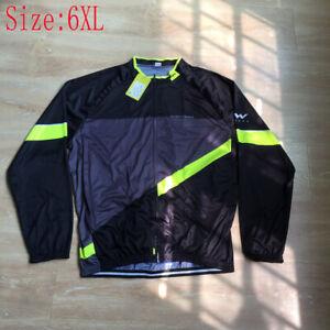2021 Mens Cycling Long Sleeve Jersey Bicycle Shirt Bike Tops Sports Uniform 6XL