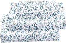 Softan King Bed Sheet Set, 4 PC Green Leaves Printed Brushed Microfiber Elegant