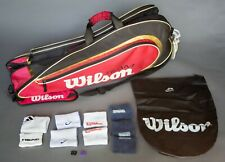 Team Wilson 3LX Tennis Multiple Racquet Large Carrying Case Bag & Accessories