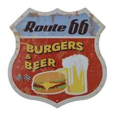 Vintage Retro Shield Metal Tin Sign Wall Plaque Pub Cafe Beer Burger Decor
