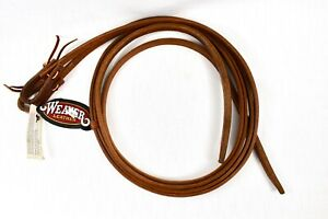 """Weaver Harness Leather Split Reins w/Water Loop Ends 5/8""""x7'6"""" Made In USA"""