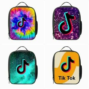 Kids Tik Tok Insulated Lunch Bag School Student Snack Box Food Picnic Lunchbox