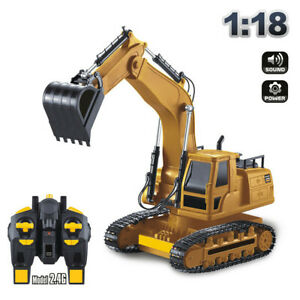 2.4Hz 1:18 RC Vehicle 8 Channel Full Functional Remote Control Excavator Toys