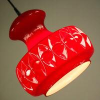 Peill + Putzler Pendel Leuchte Glas Hänge Lampe Vintage Op Art Pendant 60er 70er