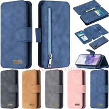 For Samsung S20 S10 A21s A50 A51 A71 Detachable Flip Wallet Leather Case Cover