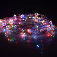 30 LED-Lichterkette,Micro Drahtlichterkette Lichter Draht Neu mehrfarbig RR