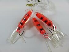 1 RED FLADEN WINGED OCTOPUS GLITTER MUPPET RIG Cod Fishing Lures Sea Boat Tackle
