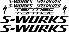 Specialized S-Works/Tarmac Large Set Decals/Stickers (Gloss Black)