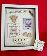 MEMORIAL Picture Frame KEEPSAKE GIFT Personalised BABY CHILD SON DAUGHTER HEAVEN