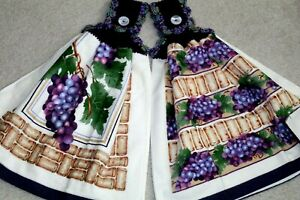 Double Crochet Premium Hanging Towels by CK ~ Wine Grapes
