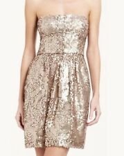 """BCBG New """"Carole"""" Champagne Sequin Party Dress Women Size 6 NWT"""