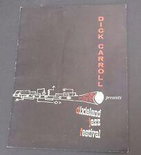Vtg Dick Carroll Dixieland jazz program George Brunis Johnny Lane Teddy Buckner