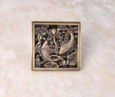Antique Brass Bathroom Floor Square Shape Shower Drain Lhr032