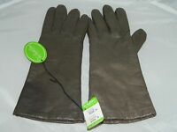 VTG VAN RAALTE Taupe Leather Acrylic Lined Gloves Size Small With Tags