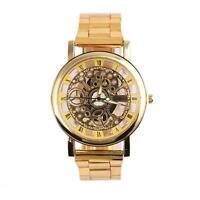 Fashion Mens Automatic Mechanical Watches Roman numerals Wrist Watch Bracelet