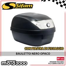 BAULETTO NERO OPACO S-LINE 28 LITRI + PIASTRA UNIVERSALE PIAGGIO BEVERLY CARNABY