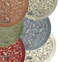 Tappeto rotondo in ciniglia con antiscivolo retrogommato Amalfi varie misure