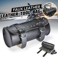 Motorcycle Motorbike PU Leather Tool Roll Saddlebag Saddle Bag Pouch