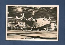 SHORT EMPIRE FLYING BOAT Cygnus The EMPIRE COURIER mail services 1938 photocard