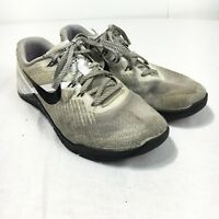 Nike Metcon 3 Women's 7 White Gray Black Lace Up Running Training Shoes 849807