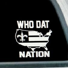 WHO DAT NATION (Saints) vinyl decal
