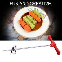 New Creative Vegetable Fruit Spiral Twist Knife Stainless Steel Manual Spir M3Z4