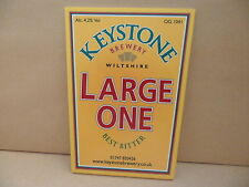 Keystone Brewery Large One Ale Beer Pump Clip face Pub Bar Collectible 109