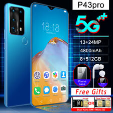 P43 Pro 5G and 4G 6.7 Inch Full Screen Fingerprint &Face Recognition Smart Phone