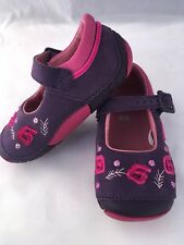 NEW Clarks First Shoes 4.5F Purple Infant Girls Shoes Leather Pretty Design