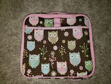 Pottery Barn Kids Fairfax Travel Case Chocolate Owl iPad Tablet