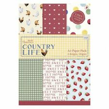 Papermania ~ A5 Paper pack ~ 24 x 160gsm sheets ~ Country Life