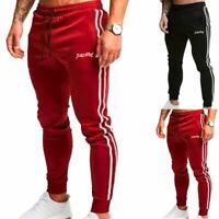 Trousers Men Sports Fit Pants Long Running Joggers Sweatpants Casual Gym Slim