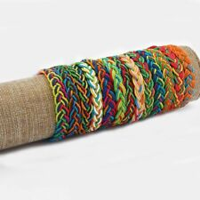 Lot 20pcs Colourful Thread Handmade Surfer Woven Friendship Bracelets
