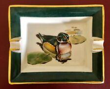 Hermes Paris Aschenbecher Cendrier Ashtray Ente im Teich Canard Duck Goldrand
