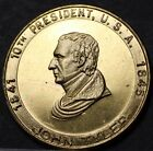 John Tyler 10th President Bronze Medallion~Accidential President~Annexed Texas~