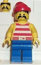LEGO 6276 - PIRATES - Pirate White Stripes Shirt, Blue Legs - MINI FIGURE