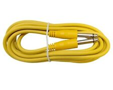10 ft foot YELLOW 1/4 mono guitar to effect pedal instrument PA patch cable cord