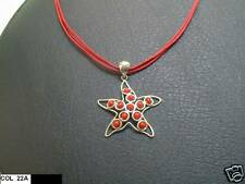 CIONDOLO IN ARGENTO A FORMA DI STELLA CON CORALLO  - S.Silver pendant with coral