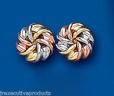Knot earrings Three Colour Gold Knot Stud Earrings Knot Studs