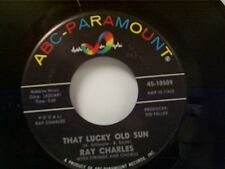 """RAY CHARLES """"THAT LUCKY OLD SUN / OL MAN TIME"""" 45 NEAR MINT"""