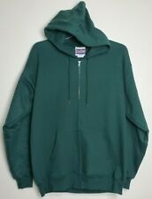 Hanes Men's Full Zip Ultimate Heavyweight Fleece Hoodie, Deep Forest, Medium