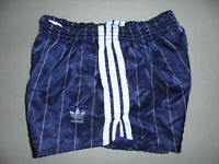 vintage german 70s Adidas Sprinter blau Nylon Glanz shorts 70er sport hose D6 M