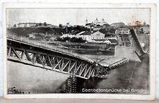 Postkarte um 1917 - Eisenbetonbrücke bei GRODNO / Njemen Weissrußland