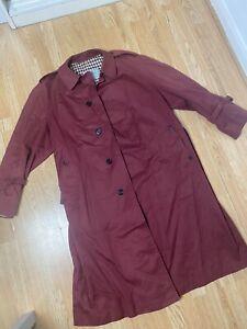 aquascutum Classic Womens Trench Coat burgundy