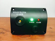 MARINE BOAT BILGE WATER ALARM 12VDC  LED INDICATOR MADE OF BLACK ABS