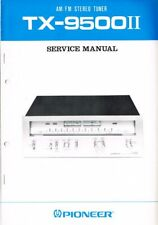 Pioneer Tuner TX-9500 II Schaltplan Manual ORIGINAL ca.14 Seiten