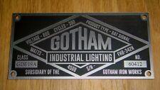 CUSTOM GOTHAM INDUSTRIAL LIGHTING DATA PLATE PROP BUILDERS BATMAN BAT SIGNAL