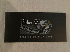 Parker 51 Special Edition Booklet That Comes With The Pen Nos