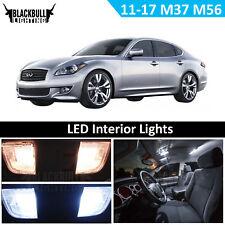 White LED Light Interior Accessories Kit for 2011-2017 Infiniti M37 M56 10 Bulbs